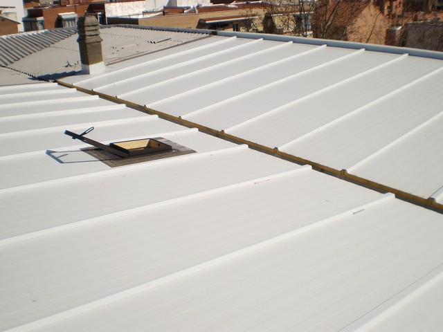 Reparaci n de tejados y terrazas en madrid chapa sandwich - Paneles de fibrocemento ...